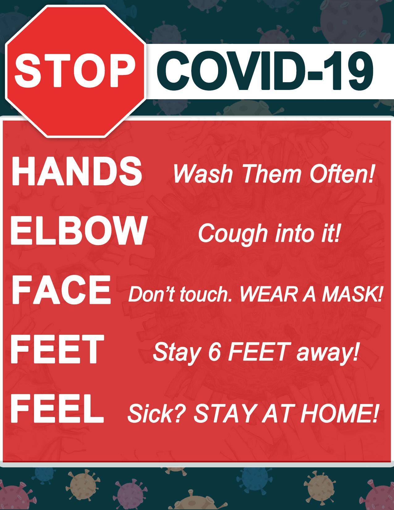 Free Covid 19 Poster Print Out 870 Am 97 7fm News Talk Whcu